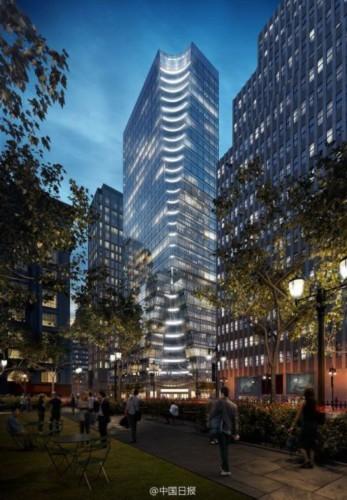 中国银行已达成以近6亿美元购买曼哈顿办公大楼的交易,是中资