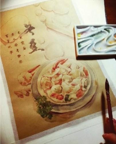 手绘节气美食,把传统味道留下来