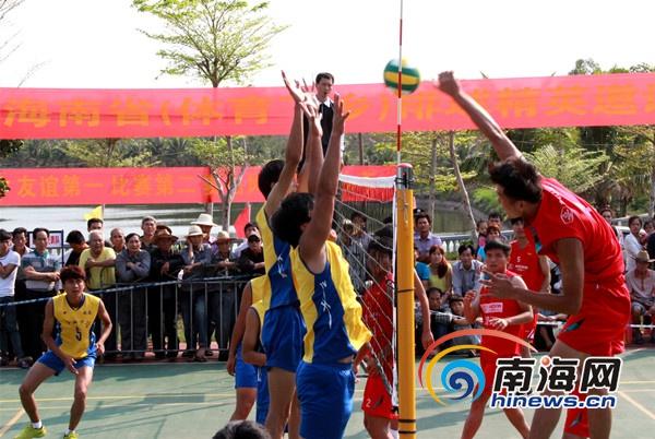 海南排球精英邀请赛澄迈举行 4支球队展开角逐