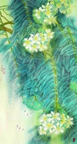 白蝴蝶(中国画) 金 纳-贵在造境