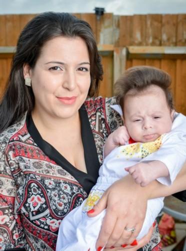 一发型惊呆出生波型v发型像猫王婴儿自带父母扎马尾斜刘海图片图片