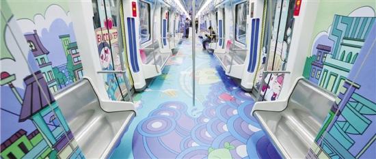"""宁波""""海丝文明""""号手绘卡通地铁专列 今天起正式投入运营"""