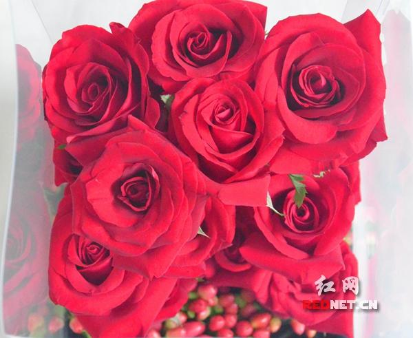 七夕鲜花迎涨价潮,玫瑰花依旧是市场宠儿.图/商家提供