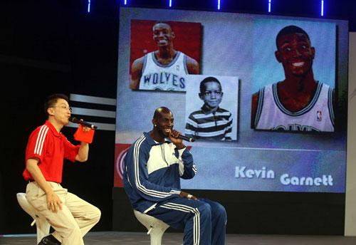 NBA巨星加内特上海行图片
