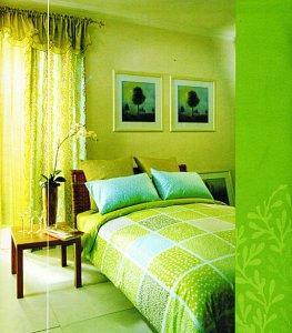 绿色地板配窗帘美式深色地板窗帘图片8