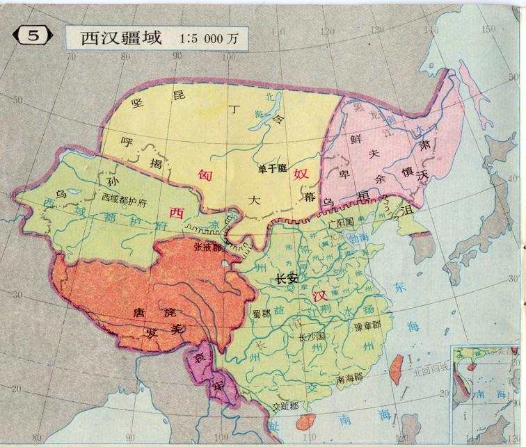 西汉疆域(资料图片)