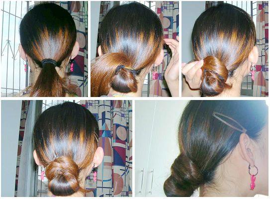 发型:17个迷人又好学的盘头发方法(组图)