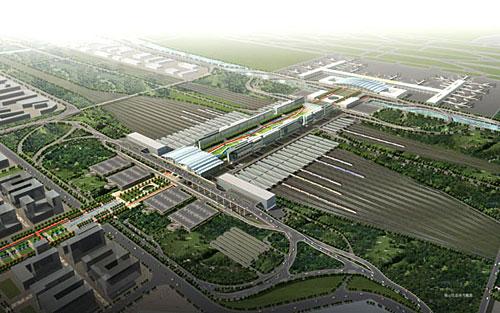 虹桥综合交通枢纽工程示意图.(图片来自:中国建设科技网)