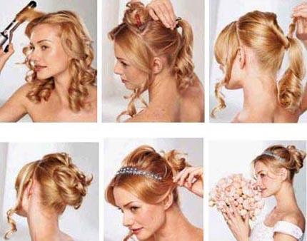 经典新娘发型diy(组图)