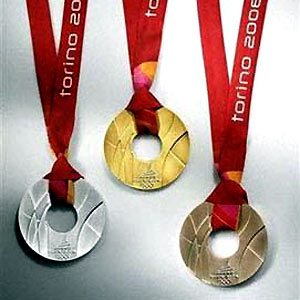 《2006年都灵冬季奥运会的奖牌 》图片