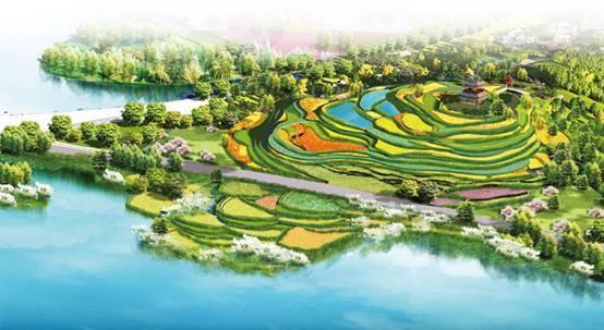 Celestial land of agricultural civilization
