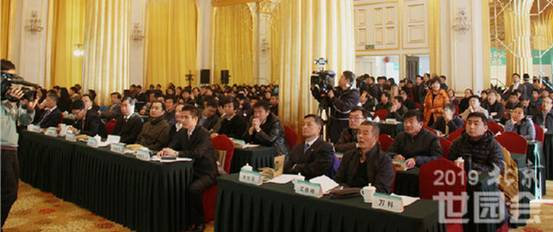 Scene of Beijing Expo 2019, Beijing, China and Industrial Cluster Enterprise Matchmaking Meeting
