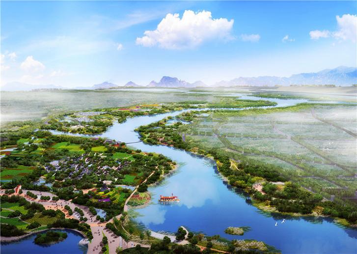 Aerial View of Beijing Expo 2019 (Rendering)