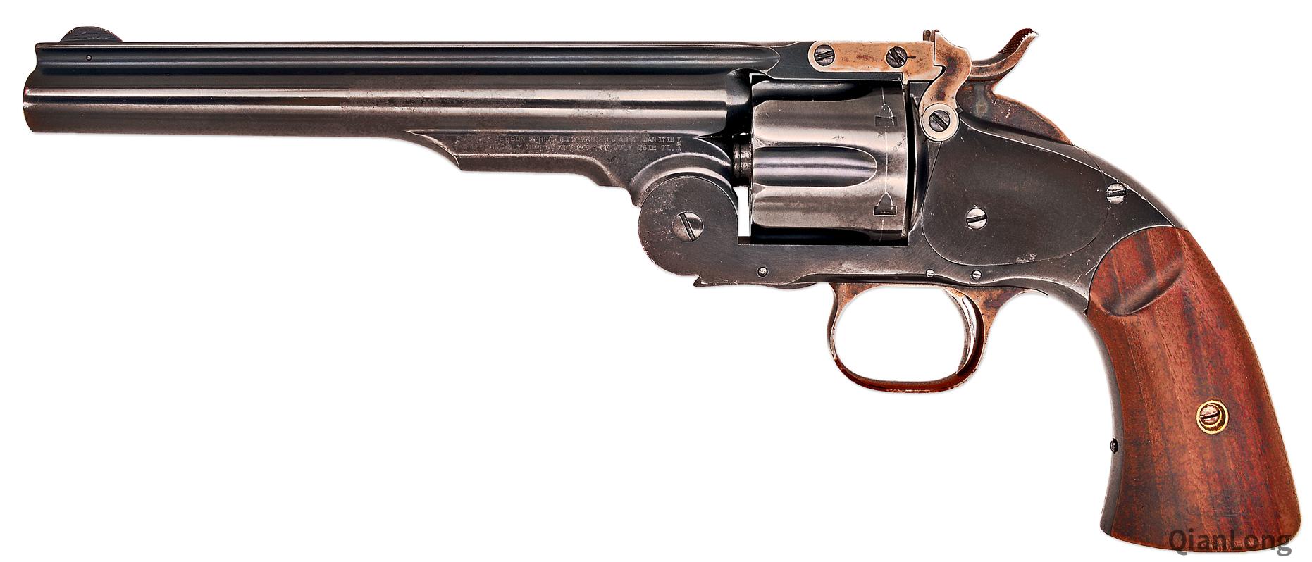 资料图:美国史密斯·维森(Smith & Wesson)公司推出的早期左轮手枪。
