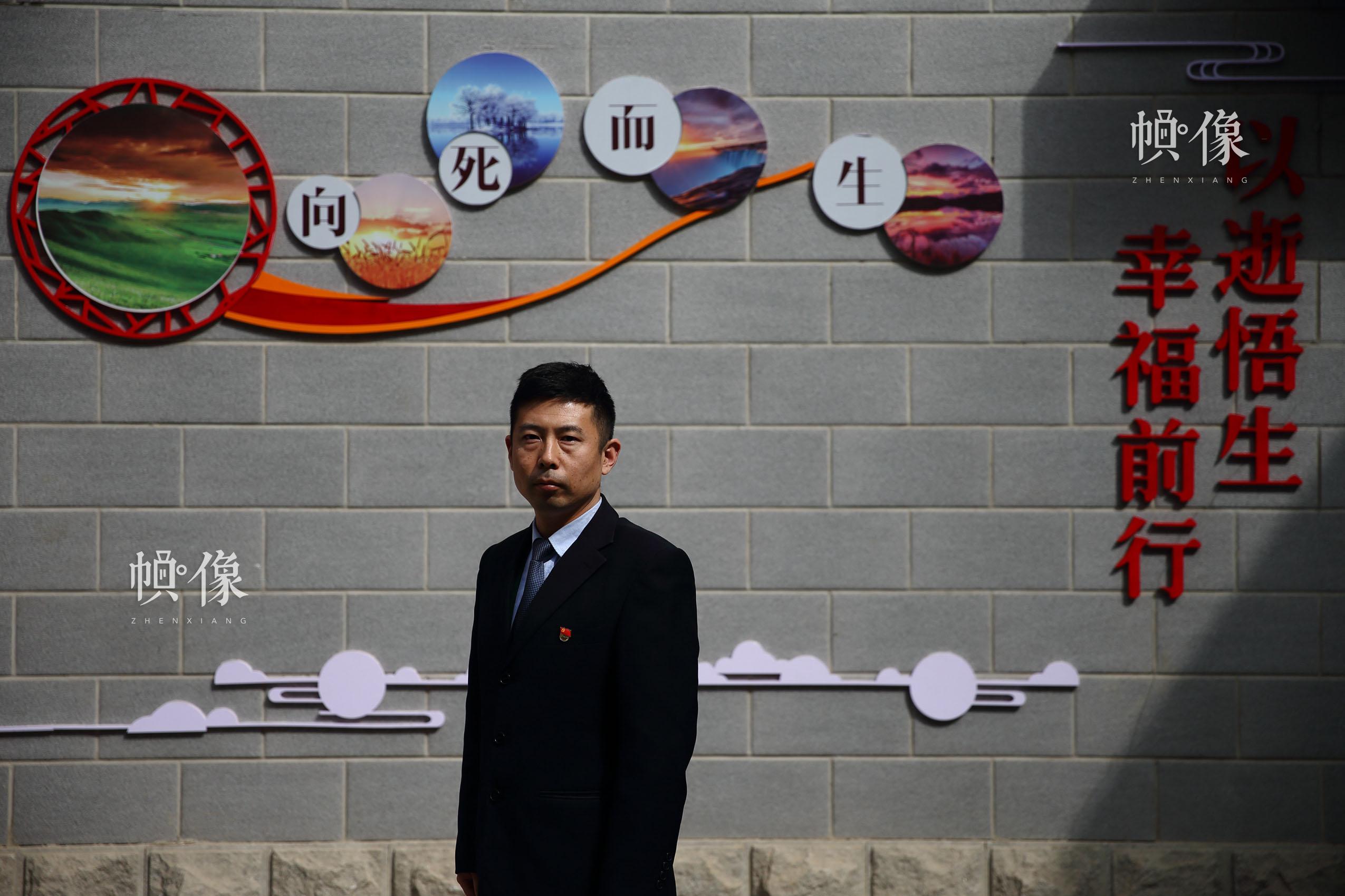 北京八寶山殯儀館火化室副主任魏童。中國網記者 陳維松 攝