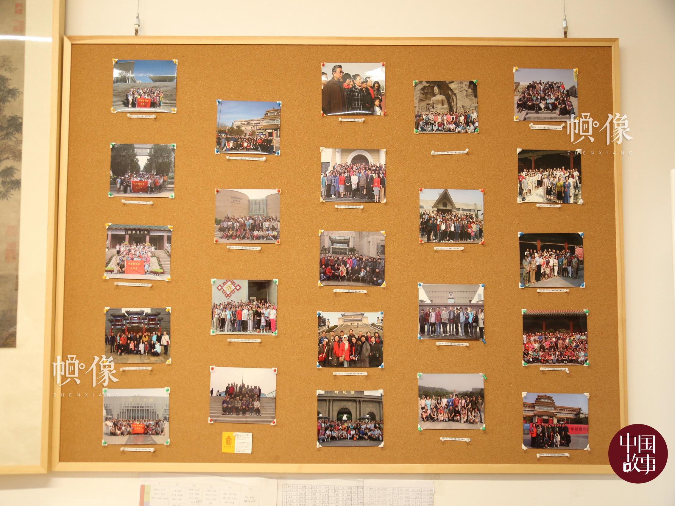 志愿者工作站内的照片墙。中国网实习记者 赵丹 摄