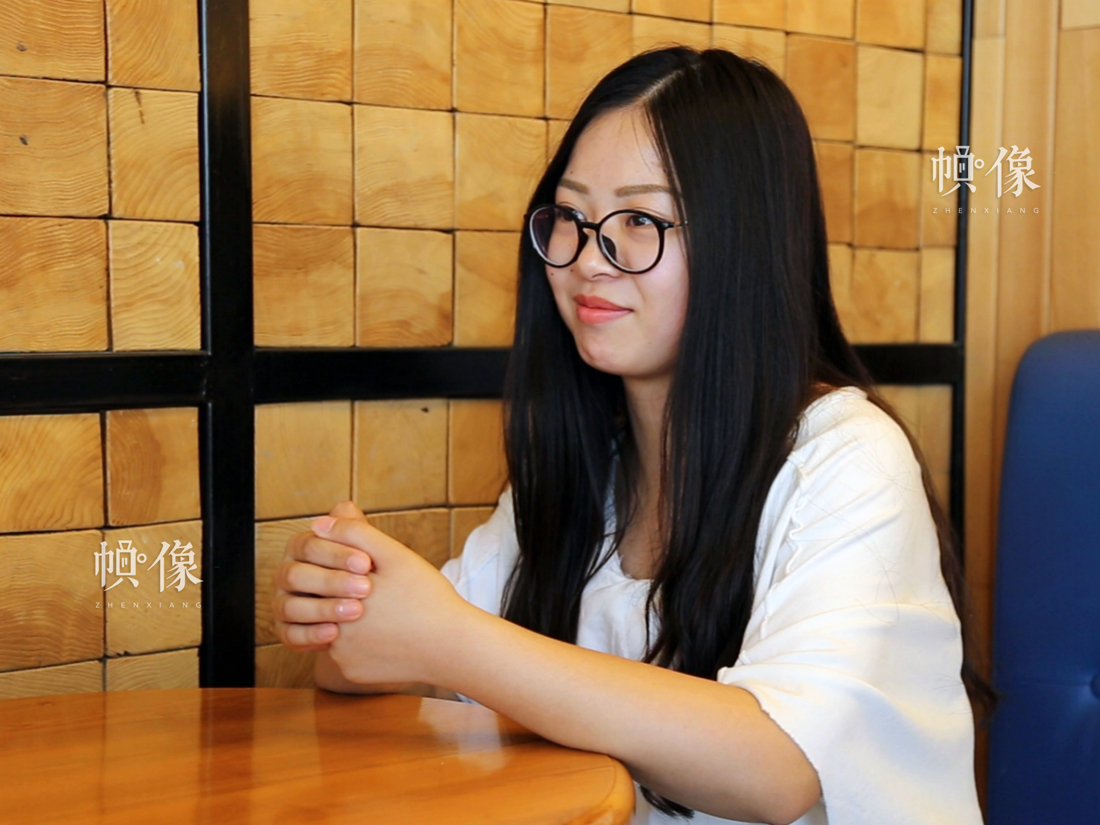 图为小敏接受采访。小敏毕业于衡水二中,在2015年参加高考。中国网实习记者 张敏 摄