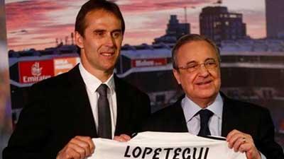 前西班牙主帅洛佩特吉亮相皇马 泪洒发布会现场