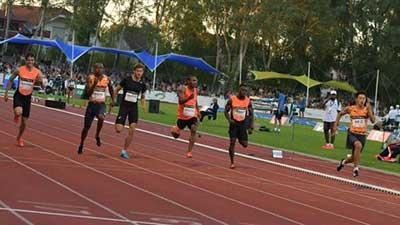 法国赛谢震业百米跑出9秒97 刷新黄种人纪录