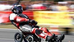 德国车手驾驶小轮车飙出119.68 km/h破世界纪录