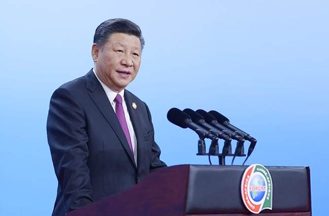 习近平出席中非领导人与工商界代表高层对话会暨第六届中非企业家大会开幕式并发表主旨演讲
