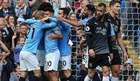 英超:阿圭罗建功马赫雷斯世界波 曼城5-0伯恩利 08 09