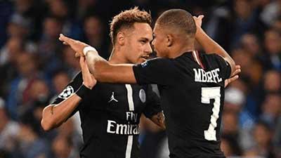 欧冠:因西涅点射姆巴佩助攻 巴黎1-1那不勒斯 伊布拉希