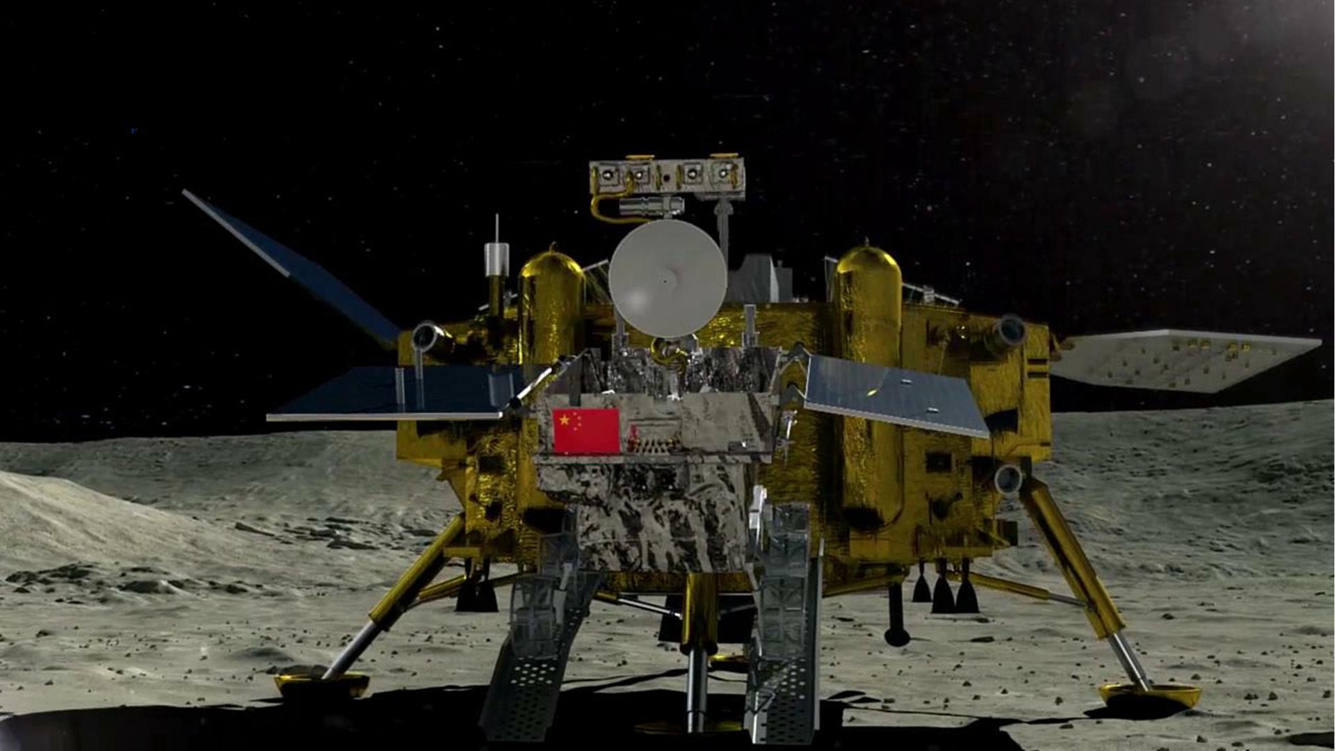 嫦娥三号着陆直播吗_嫦娥四号降落月之背面 三分钟告诉你它有多厉害_Hi 中国人_中国网