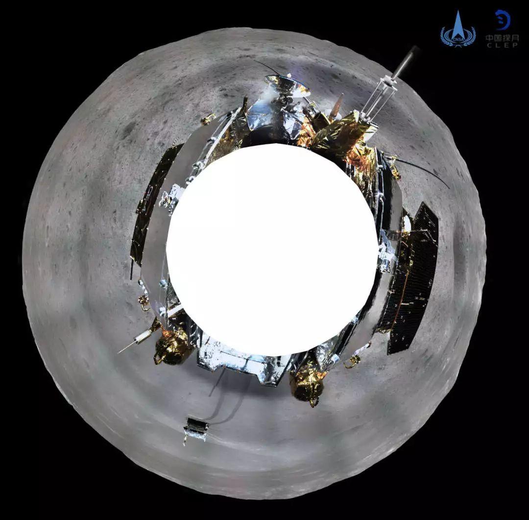 玉兔号月球全景图_首张月背全景图动起来!模拟嫦娥四号视角看月球背面_ 视频中国