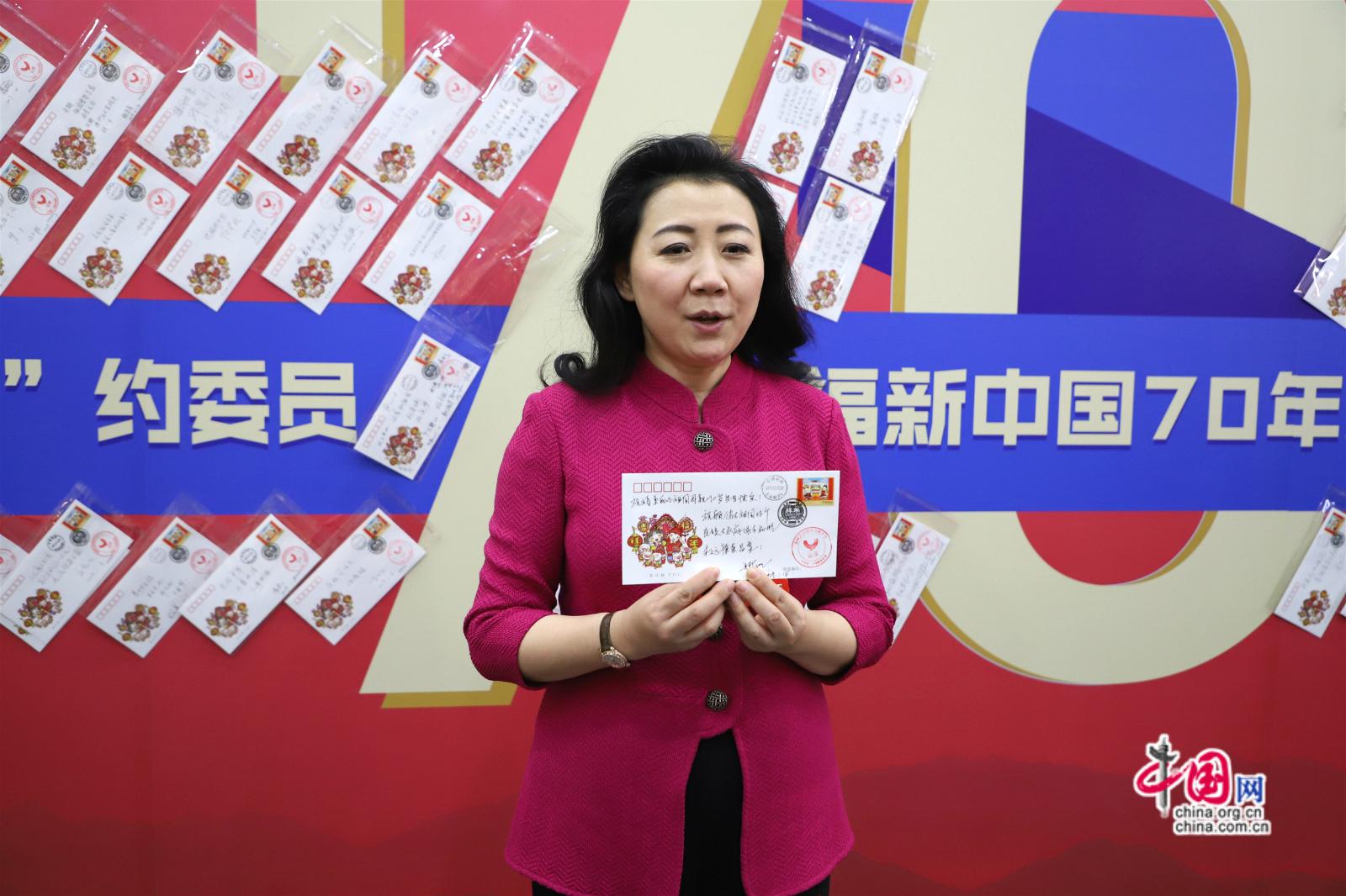 北京市政协委员娜木拉参与节目录制。中国网记者李培刚摄