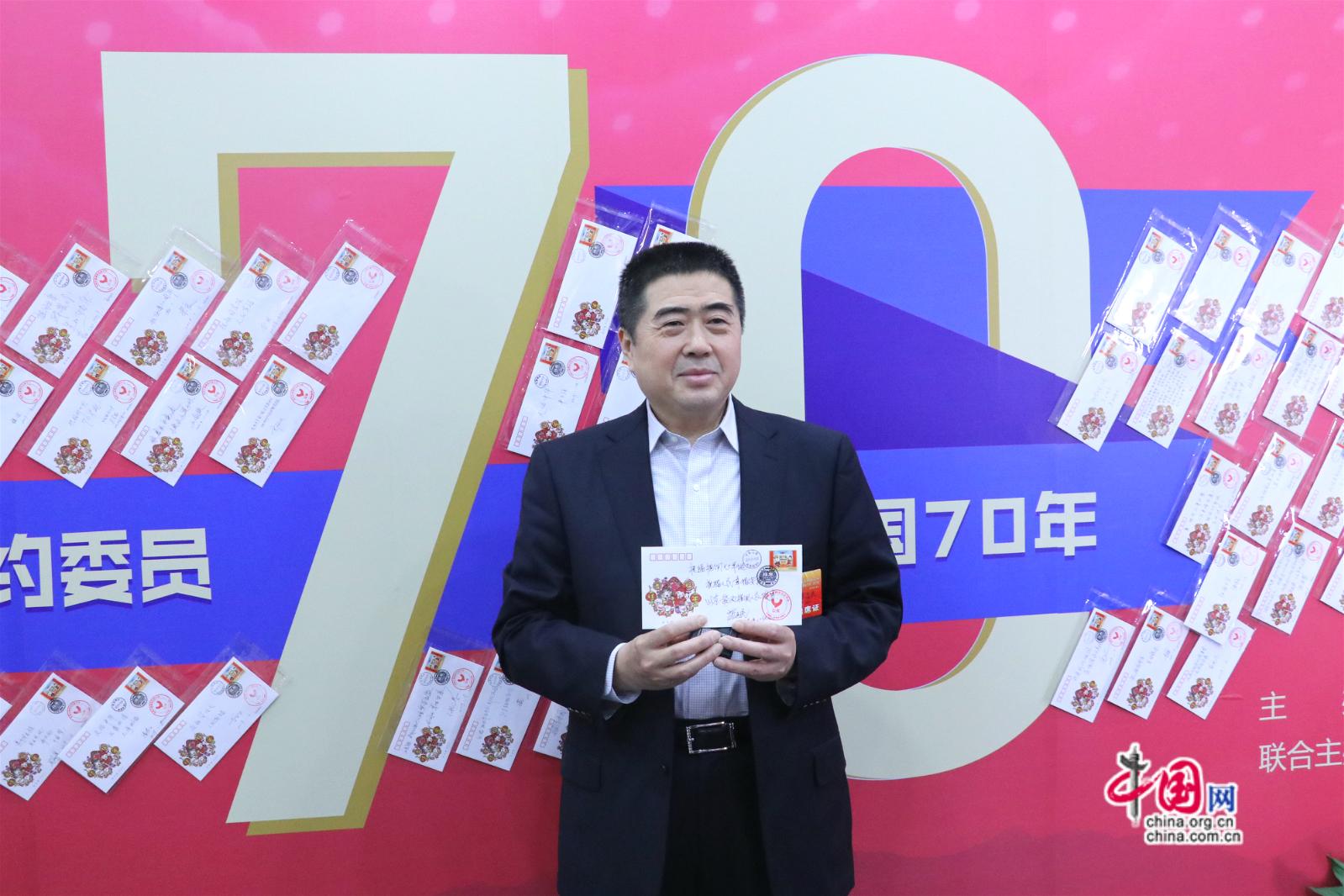 北京市政协委员苏志民参与节目录制。中国网记者胡俊摄