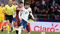 热身赛:梅西回归难救主 阿根廷1-3负委内瑞拉 皇马拜仁