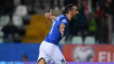欧预赛:夸神2射1传破纪录 意大利6-0列支敦士登 双雄胜天
