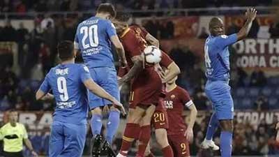 意甲:佩罗蒂破门扎尼奥洛建功 罗马2-2佛罗伦萨 巴萨欧冠赛程