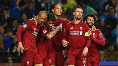 欧冠:萨拉赫传射 利物浦总分6-1波尔图进4强 国际米兰主力阵容