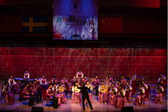 北京学生金帆艺术团赴瑞典演出 庆新中国70年和中瑞建交69年 _中国网