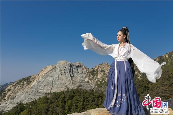 沂蒙山世界地质公园:遇见汉服 邂逅最美丽的你