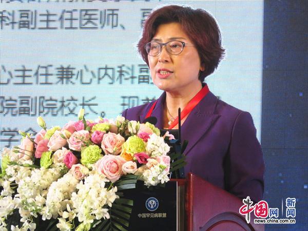 北京协和医院副院长张抒扬作大会发言.中国网记者 金慧慧 摄