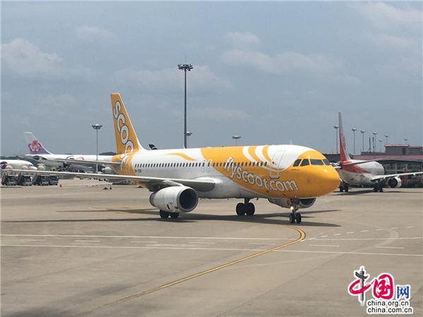 首班酷航長沙-新加坡直飛航線20日正式開航