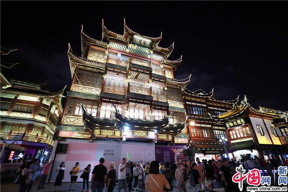 """豫园夜经济""""点睛""""夜上海"""