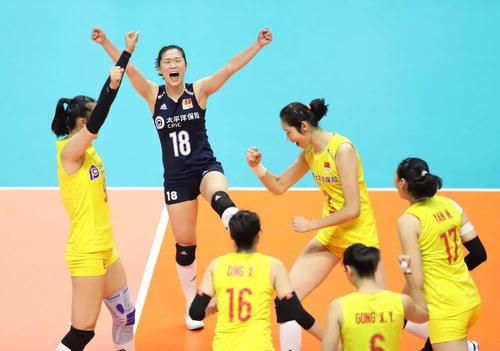中国女排战胜美国  世界杯七连胜