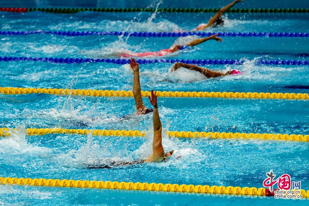 军运会游泳首日中国4破赛会纪录