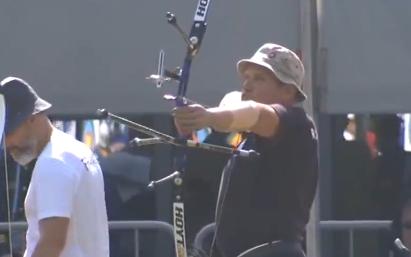 第七届世界军人运动会――沙场到赛场  残疾射箭手展现军人风采