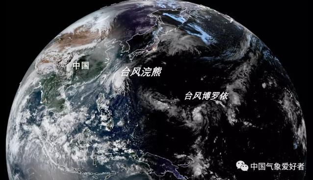 """第21号台风""""博罗依""""在太平洋深处生成"""