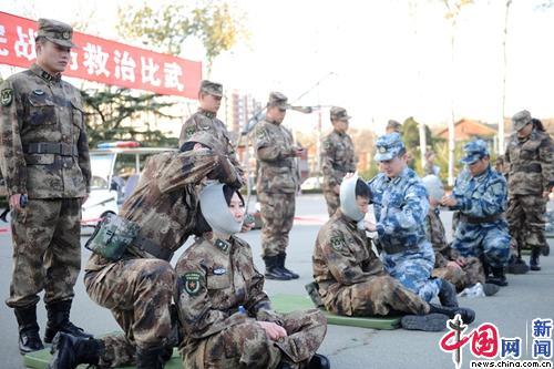 军科军事医学研究院组织战伤救治练兵比武