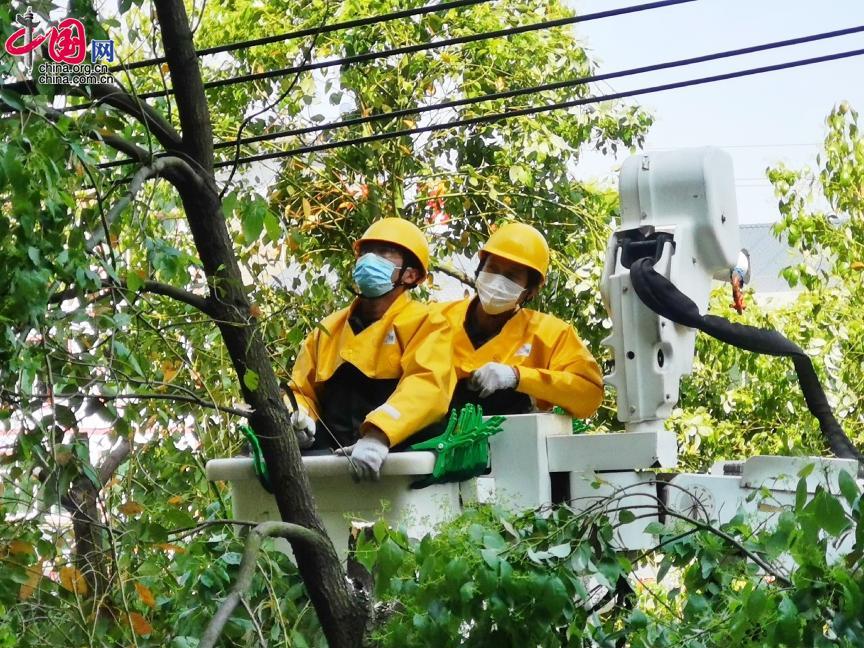 国网德安县公司:砍青打造电力线