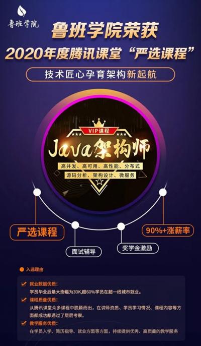 """鲁班学院荣获2020年度腾讯课堂""""严选课程"""
