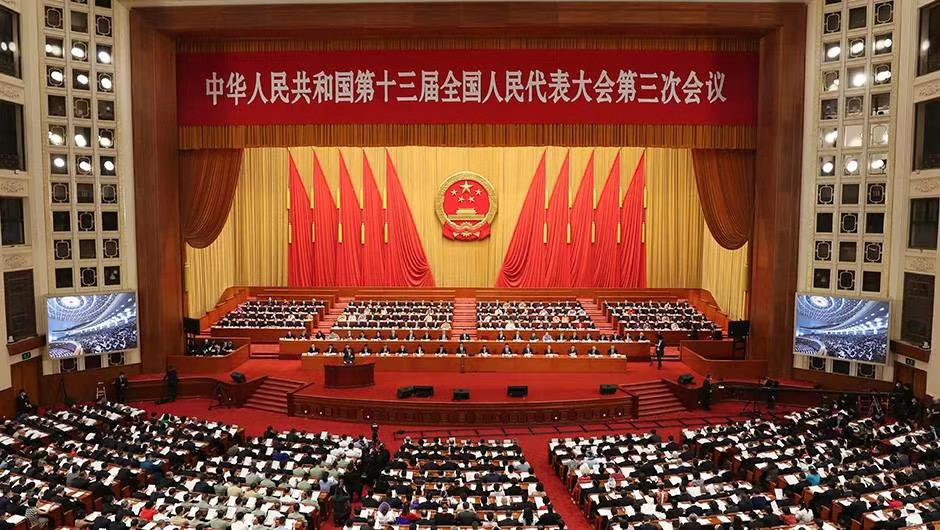 十三届全国人大三次会议第二次全体会议