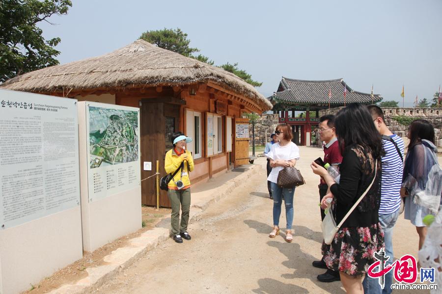 6月19日,韩国乐安邑城民俗村。 中国网记者 李佳摄影