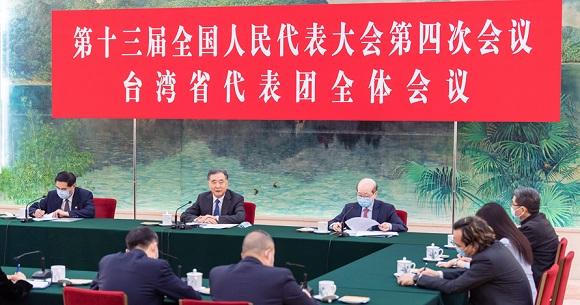 汪洋参加台湾代表团审议